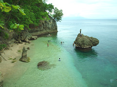 My Hidden Paradise (SweetCaroline) Tags: blue sea sky green beach water rocks olympus davao sancuary samal canibad olympuse520 carolineespejon