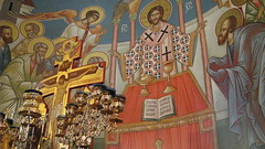 Christ and Apostles (A Whistling Train) Tags: church icons indiana orthodox serbian saintsava merrillville