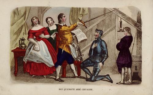 010- Don Quijote armado caballero-1845