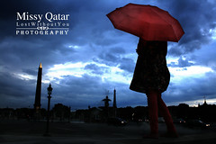 ~ (Missy | Qatar) Tags: paris girl umbrella day little cloudy rainy