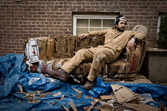 couchtastic (sgoralnick) Tags: brooklyn furniture couch cardboard francesco woodshop