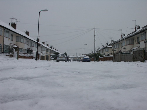Our street in the snow