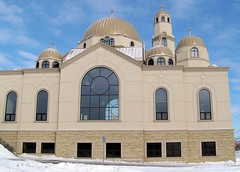 Side view of St. Mary & St. Joseph Coptic Orthodox Church (Will S.) Tags: ontario canada church churches christian christianity mypics coptic richmondhill copticorthodox easternorthodoxy copticorthodoxchurch stmarystjosephcopticorthodoxchurch