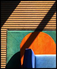 balcony view 2 (eYe_image) Tags: abstract table office shadows balcony couch mat rug mywinners colorphotoaward colourartaward colorartaward