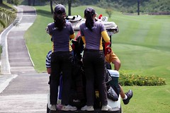Rancamaya golf (Mangiwau) Tags: west female golf indonesia java maya golfing indonesian caddy bogor caddies ranca barat sunda ciawi antero rancamaya indodrill
