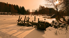 Mill Dam (Don Raider 68) Tags: morning light shadow snow ice scotland landscapes frozen perthshire dunkeld lochs milldam a923