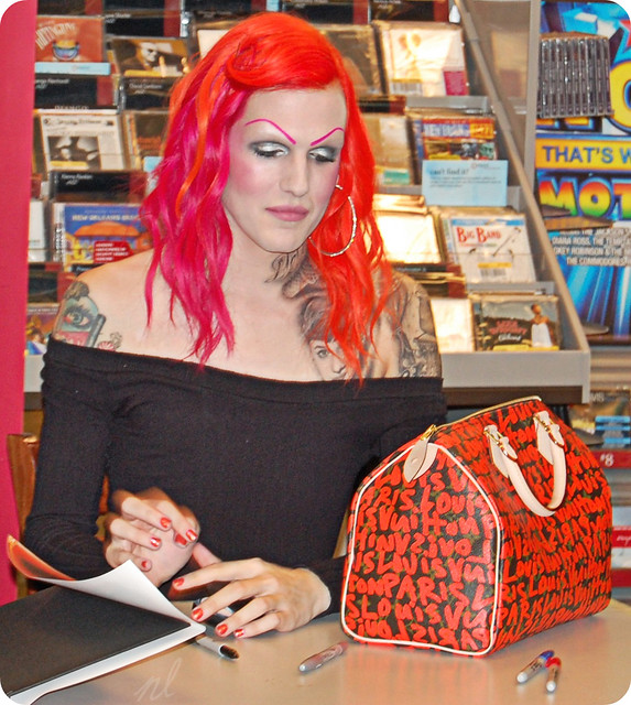 Book Store doing a book signing for her new book: High Voltage Tattoo