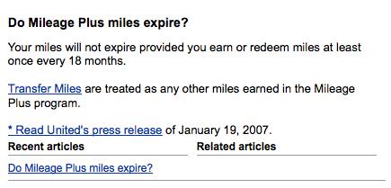 Expired Miles