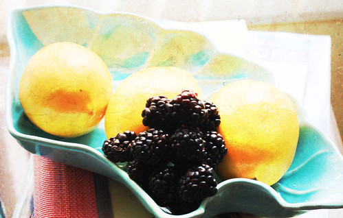 morning berries and lemons