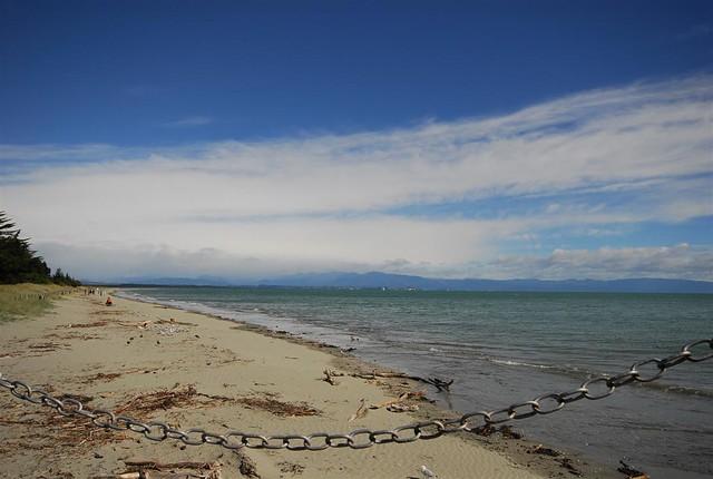 High Tide at Tahunanui Beach, Tahuna, Nelson