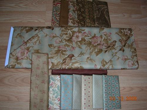 Moda fabrics for quilt-along
