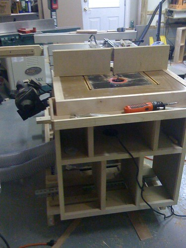 Front of the router cabinet