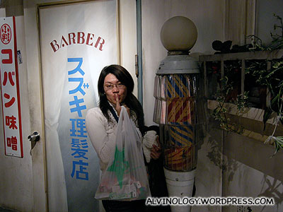Fake antique barber