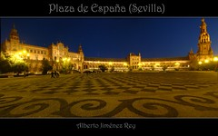 Plaza de España (sevilla) panoramica (Alberto Jiménez Rey) Tags: plaza españa azul cybershot alberto panoramica rey lucia martinez dorado suelo tapia jimenez dsct200