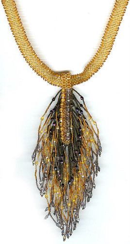 Crystal Peacock Necklace: Gold: RS-1