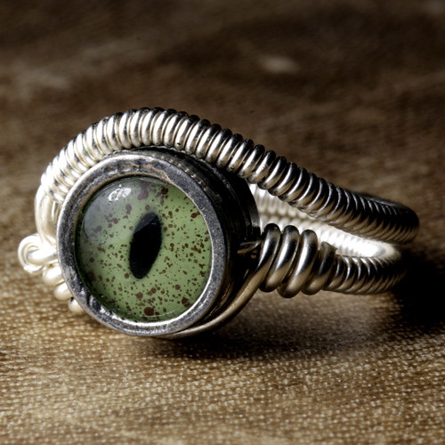 steampunk jewelry ring with crocodile ey by Catherinette Rings Steampunk, on Flickr