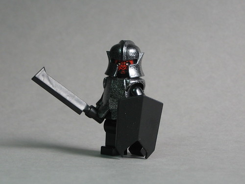 Uruk Hai custom minifig with BrickForge Goblin Sword & Shield