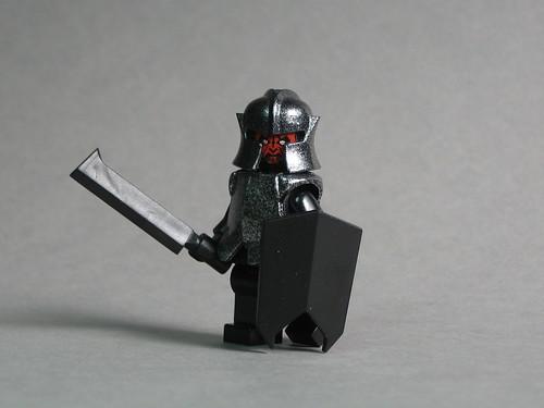 Uruk Hai custom minifig with BrickForge Goblin Sword & Shield