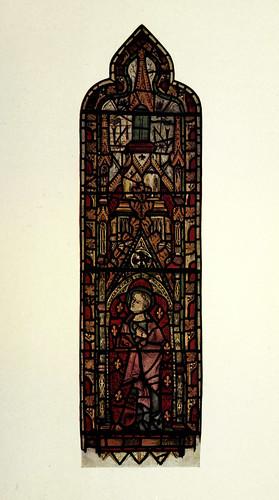 013- San Juan- vitral oriental del pasillo sur- St Martin's Micklegate-York siglo XIV