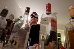 birthday blindfold/goggles (mizmareck) Tags: bottles goggles alcohol vodka andyclymer