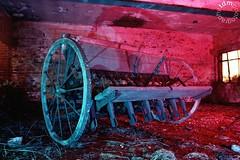 Haymaker Pt2 (Tourista de Mancunia) Tags: lightpainting film night iso200 wooden mod military machinery nighttime plow afterdark farmequipment longexposures rafbase