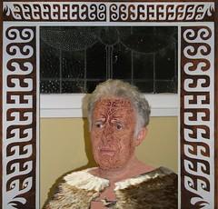 Moku, Korowai, Meta-Morphis-Eyes (Ray Tomes) Tags: portrait art me tattoo self design eyes ray serious 1st chief magic meta fake donkey first stuff april warrior brave cloak maori stern fool concentrate moku tomes trp morphis korowai imafake raytomes