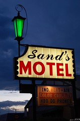 The Sands Of Time (pam's pics-) Tags: sleeping green sign vintage hotel colorado lodging motel lantern motorinn fortmorgan motorlodge motorcourt sandsmotel pammorris pamspics nikond40 denverpam
