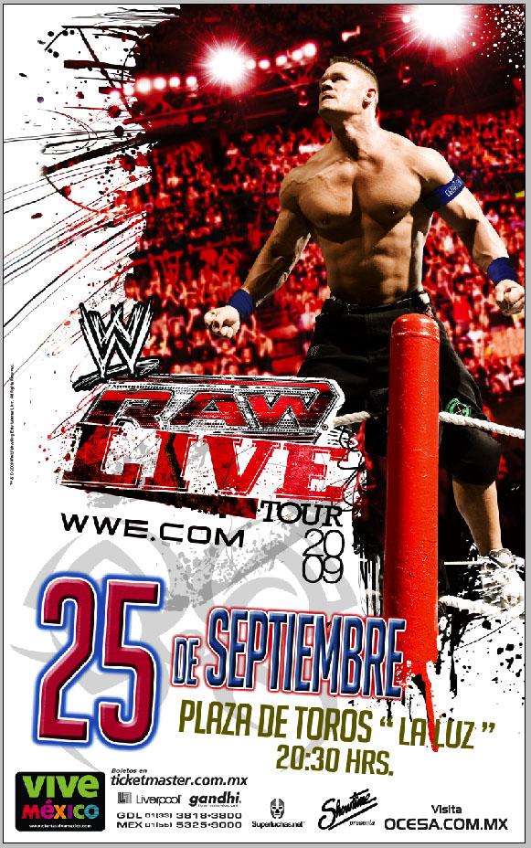 WWE RAW Live México Septiembre 2009 - Leon, Guanajuato