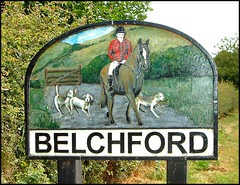 Belchford Village Sign, Lincolnshire (Lincolnian (Brian) - BUSY, in and out) Tags: england sign village lincolnshire abc lincolnshirewolds pointandclick belchford