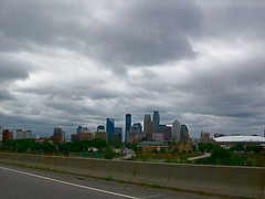 Twin Cities skyline (Kara Allyson) Tags: building skyline clouds cities stpaul twincities bigcity skyscrapingminnesota