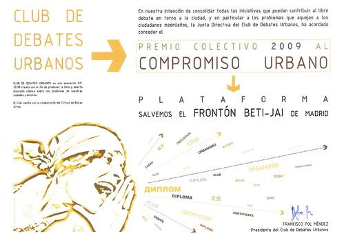 Premio Compromiso Urbano 2009