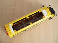 American School bus (8) (Mad physicist) Tags: school bus yellow model lego american minifig schoolbus minifigure minifigscale 7wide