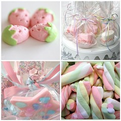 Pink Candy (toriejayne) Tags: pink flowers cake hearts stand candy chocolate strawberries marshmallows ribbon twists lolipops toriejayne