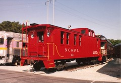 NC&StL Restored Caboose at the TVRM in Chattanooga, TN (bluerim) Tags: red chattanooga museum tennessee caboose 41 dixieland ncstl tvrm tennesseevalleyrailroadmuseum
