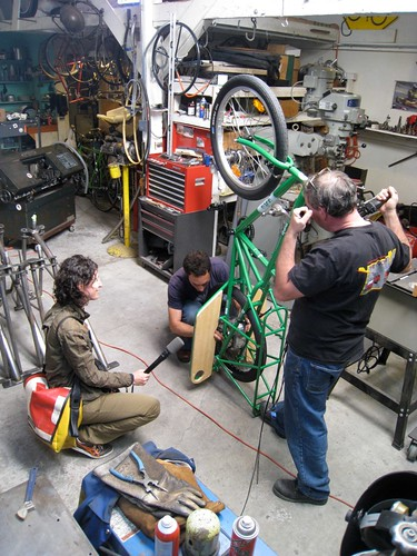 Recording the sounds of a shop for NPR by leifcycle.