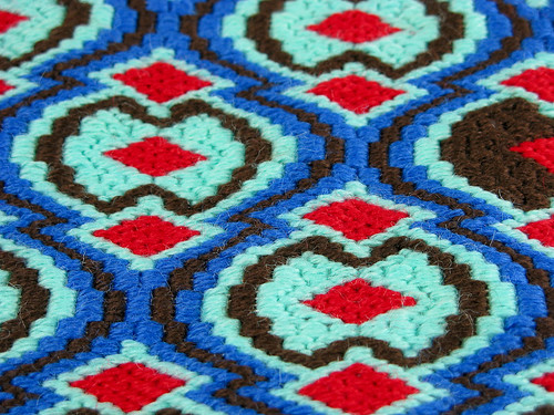 New Modern Bargello Needlepoint Design