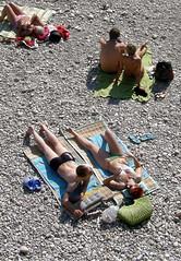 Bavarian Beaches #5 (cure di marmo) Tags: people beach strand river munich mnchen couples pebbles isar sunbathe sonnen paare sonnenbaden