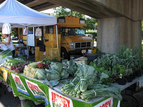 The Collingswood Farmers' Market (by: Katherine Hala, creative commons license)
