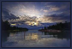 Blue Morning (ristozz) Tags: blue sea cloud water sunrise espoo finland meer wasser scandinavia hdr vanagram sailsevenseas