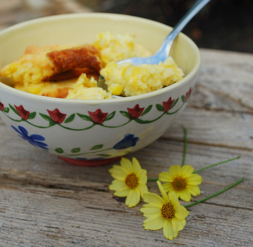 Corn Pudding in bowl 1