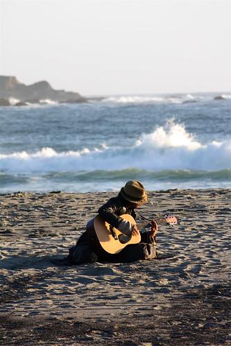 Seaside Musician