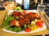 spiedino di pollo e verdure