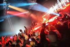 090829 Creamfields 2009 - Cream Arena - David Guetta (2) (dangerous_disco) Tags: uk party england holiday festival dance cheshire weekend cream saturday bank august 09 rave 2009 creamfields clubbers daresbury halton nightclubphotography