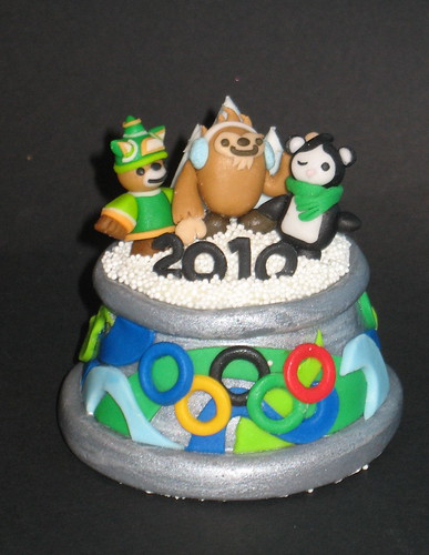 winter olympics cupcake