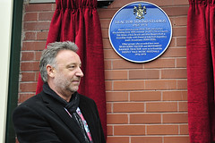 Suite 16 Studios - blue plaque unveiling 23 September (native photography) Tags: music heritage joydivision blueplaque nme peterhook neworder rochdale johnpeel recordingstudio factoryrecords manchestermusic nikon2870mm manchesterbands suite16 nikond3 nikond300 cargostudios openplaques:id=1857