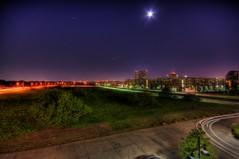 A Not So Busy Night (Keith Hernandez) Tags: longexposure light cars nikon sigma irving 1020mm bulding lascolinas sigma1020mm d5000 nikond5000