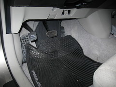 Toyota OEM all-weather floor mat installation