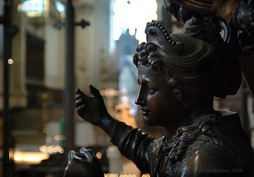Statue in St. Catherine's Church