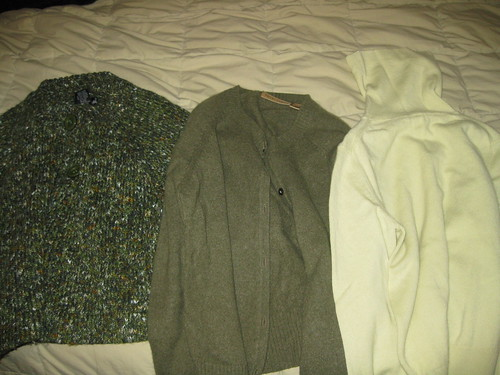 Cardis and Turtleneck pulled from storage
