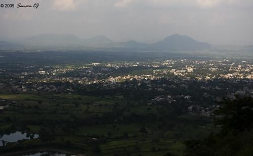 View of Satara town